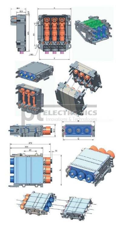 Варианты исполнения разъемов серии Transformer