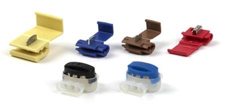 Электрические соединители с прокалывающим U-образным контактом