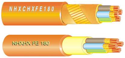 Структура кабелей марки NHXHX FE180 и NHXСHX FE180