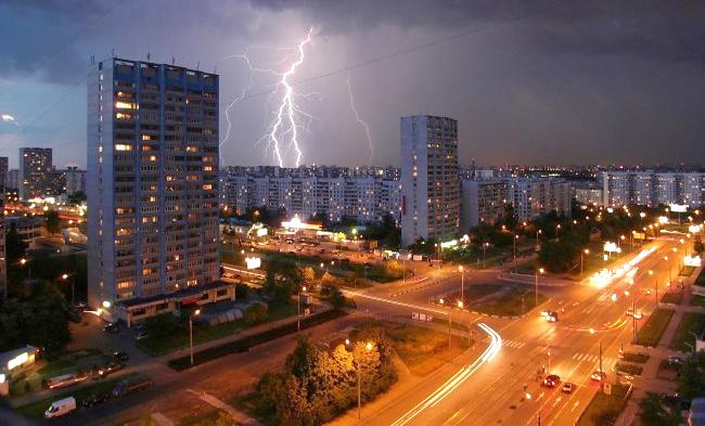 защита светодиодных систем освещения от грозы