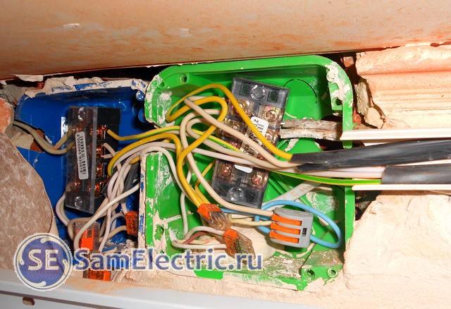 Соединение проводов в распределительной коробке различными клеммниками