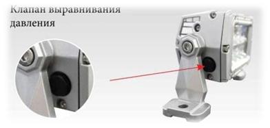 Клапан выравнивания давления в светильнике