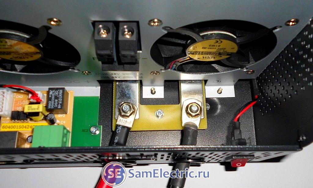 Клеммы для подключения аккумуляторов к инвертору
