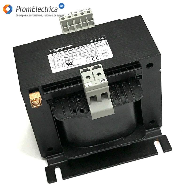 ABL6TS63B трансформатор напряжения 230..400 В 1 х 24 В 630 ВА
