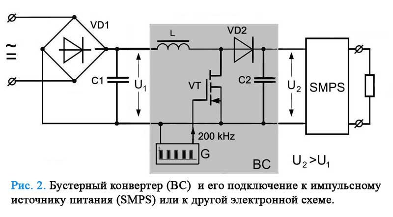 Транзистор VT с большой