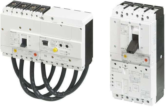 Автоматы NZM с расцепителями дифференциальной защиты