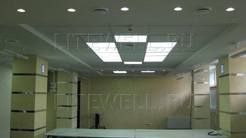 Светодиодные панели С002 в освещении офиса