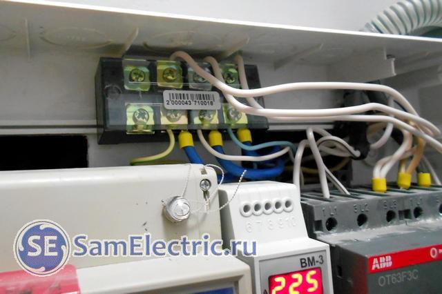 Применение клеммных колодок для соединения вводных проводов