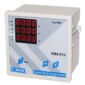 Амперметр, вольтметр, частотомер цифровой 96x96, 0-9999 А, 0-500 В 3ф, 30-70 Гц, 5 дисплеев