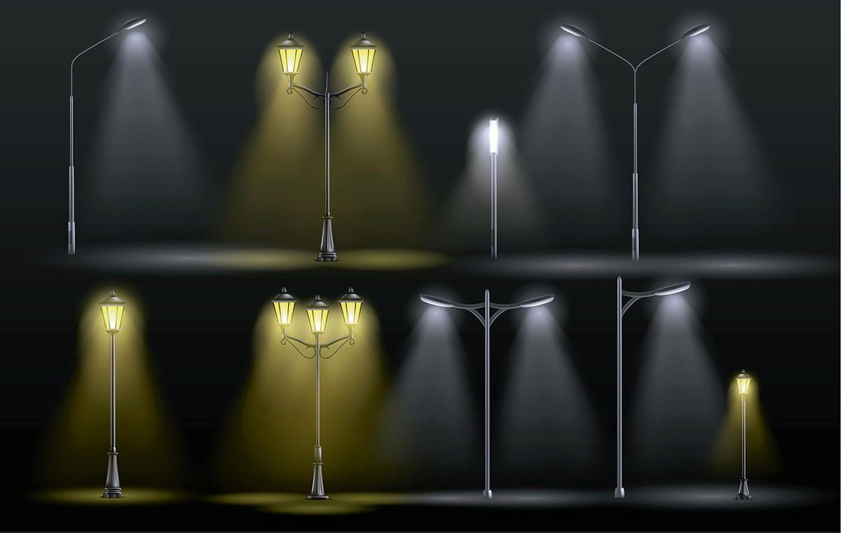 Примеры уличного освещения