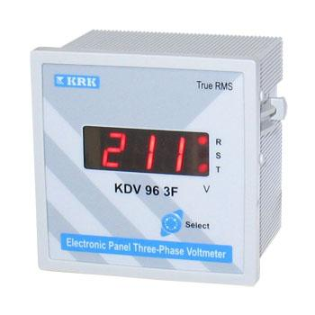 Вольтметр цифровой KDV 96 3F, трехфазный