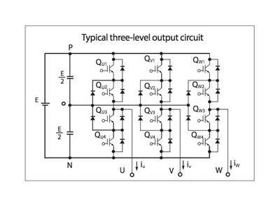Схема трехуровневого инвертора