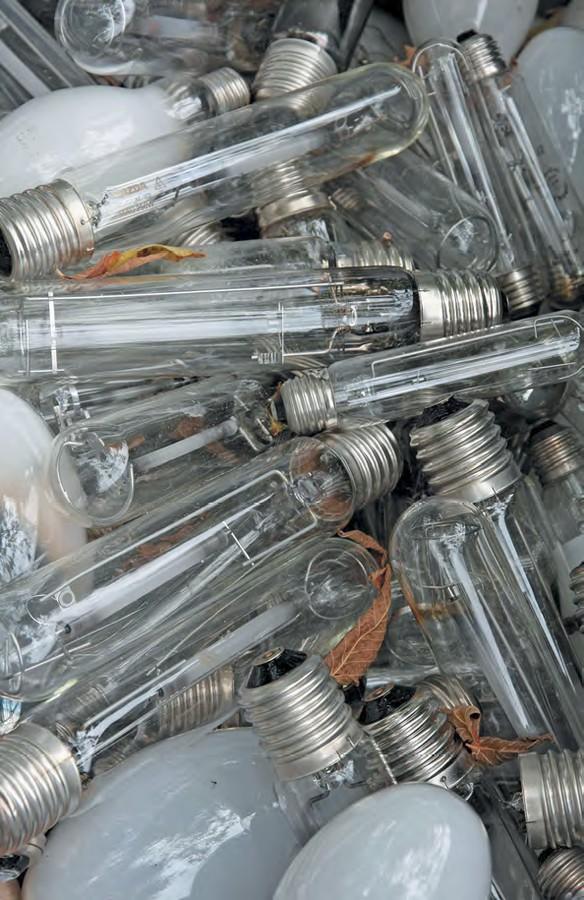 Большинство типов газоразрядных ламп содержат ртуть