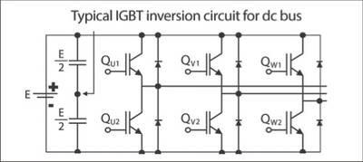 Схема инвертора с IGBT транзисторами