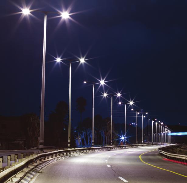 Фото — освещение светодиодными светильниками АtomSvet® трассы Улан-Удэ – аэропорт «Байкал»
