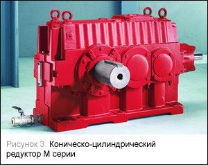 Коническо-цилиндрический редуктор М серии