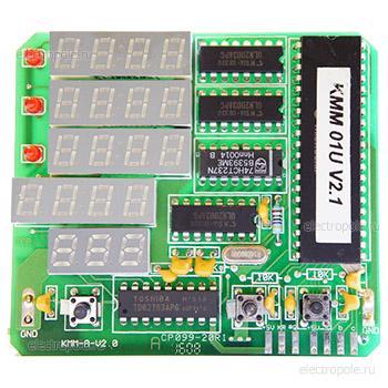 Амперметр цифровой KMA-01U, трехфазный, 0-9999А, пит. 220 VAC